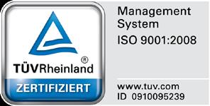 TÜV Siegel ISO 9001 2008